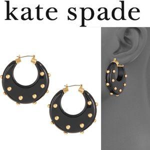 Kate Spade New York Modern Horn Hoops Earrings